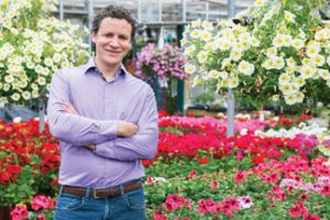 Photo courtesy Salisbury Greenhouse Salisbury Greenhouse co-owner Rob Sproule says growing poinsettias, and other seasonal flowers, requires perfect timing and management to pull off successfully in today's challenging marketplace.